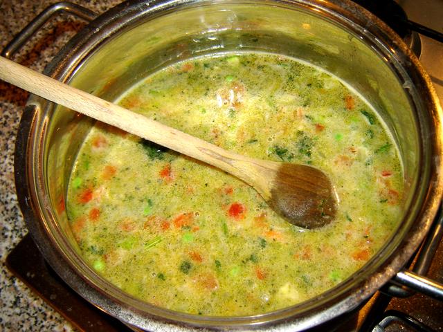 Овощной сливочный суп graphic