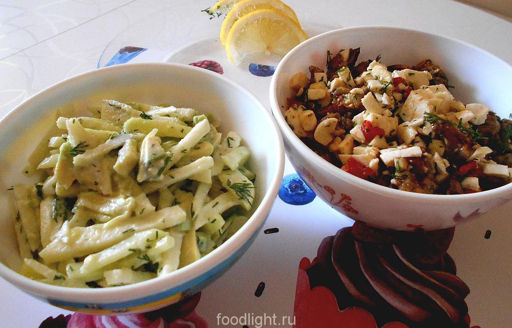 Рецепты летних салатов. graphic